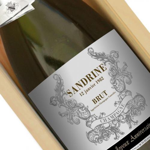 Bouteille de champagne prénom