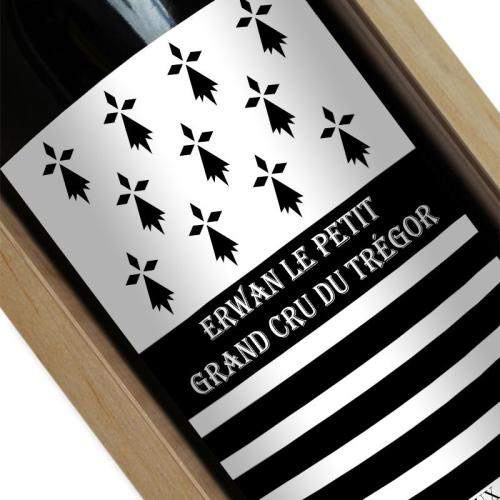 Bouteille de vin personnalisée Breizh