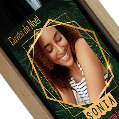 bouteille de vin Sapin de Noël photo