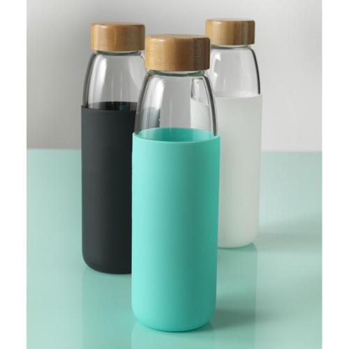 Bouteille en verre et silicone personnalisée