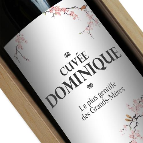Bouteille de vin personnalisée Cerisier