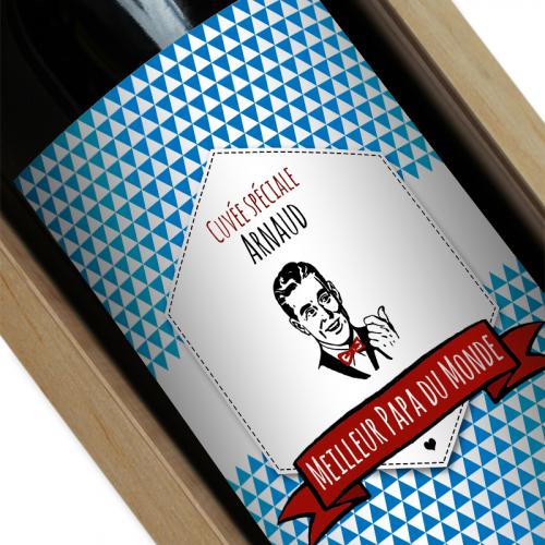 Bouteille de vin personnalisée Label Papa