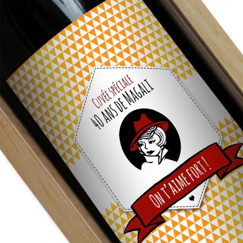 étiquette vin personnalisée labelviolet