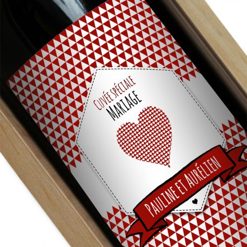 Vin personnalisé Label mariage