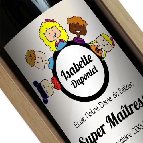 Bouteille de vin Merci Maîtresse