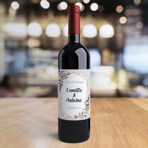 Bouteille de vin personnalisée mariage