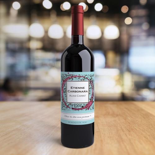 Bouteille de vin personnalisée Vignoble