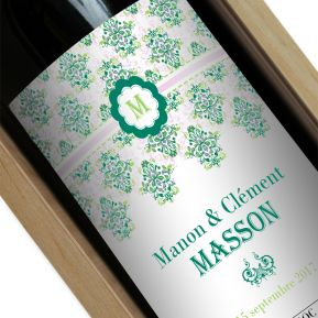 Bouteille de vin personnalisée Rococo