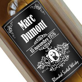 Bouteille de whisky personnalisée style bourbon