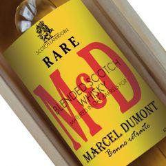 Bouteille de whisky personnalisée Initiales