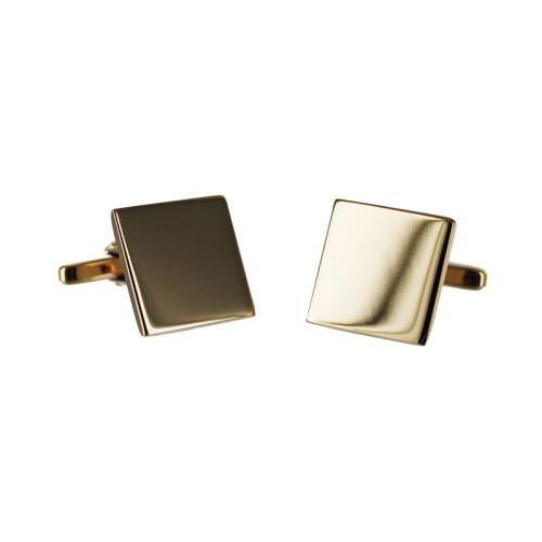 Boutons de manchette carrés plaqué or