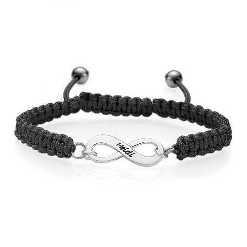 Bracelet amitié gravé noir