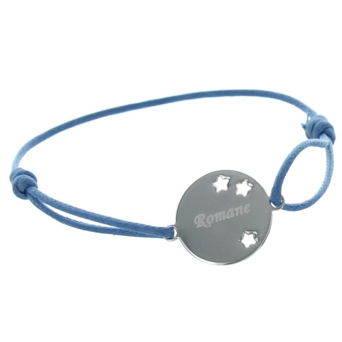 Bracelet argent étoiles prénom