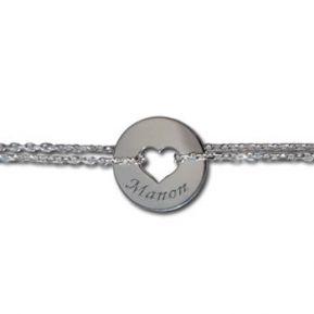 Bracelet chaine coeur ajouré