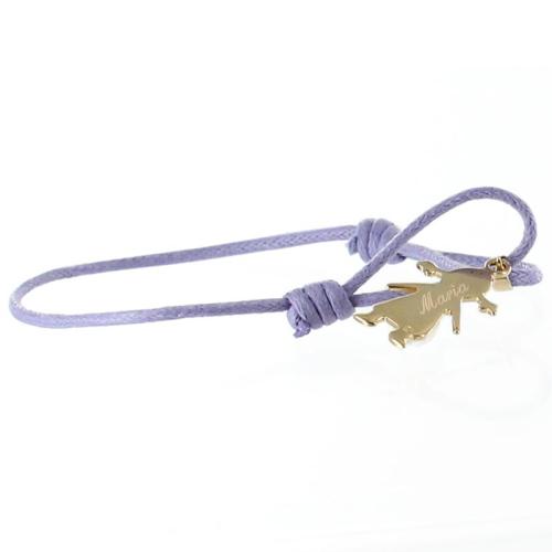 Bracelet chérubin personnalisé plaqué or