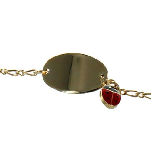 Bracelet cocinelle et médaille à graver