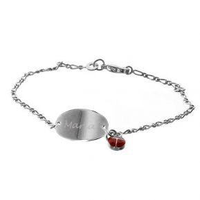 Bracelet coccinelle personnalisé