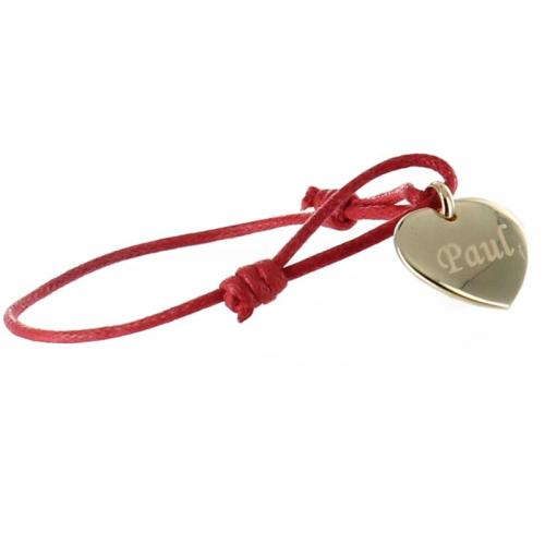 Bracelet coeur personnalisé plaqué or