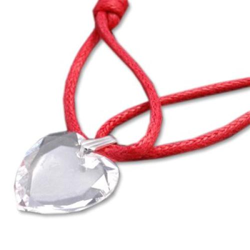Médaille coeur en cristal