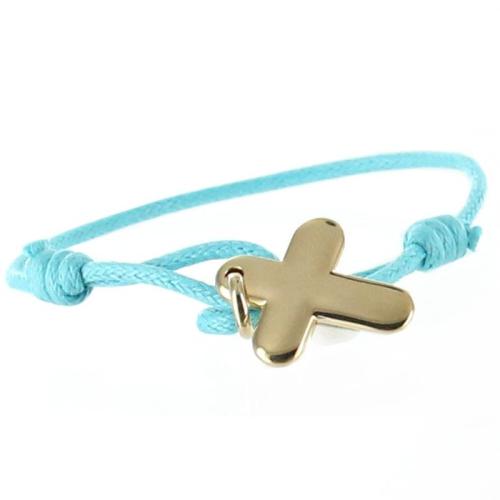 Bracelet croix plaqué or