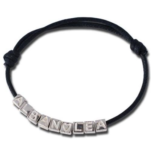 Bracelet prénom cubes