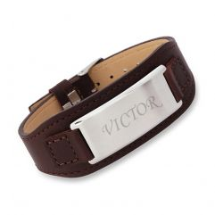 Bracelet cuir homme personnalisé