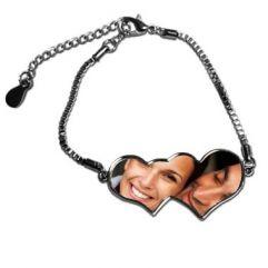 Bracelet double coeur photo