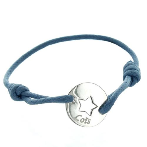 Bracelet enfant en argent étoile gravé