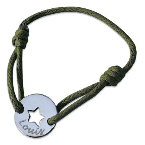 Médaille jeton avec étoile ajourée gravée