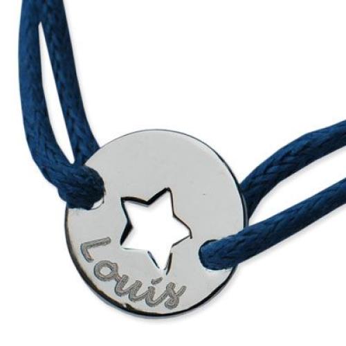 Bracelet étoile ajourée prénom