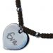 Médaille coeur gravée sur cordon en coton
