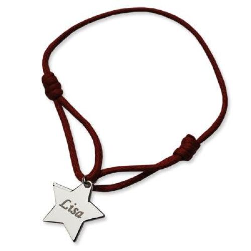 Médaille étoile gravée au prénom