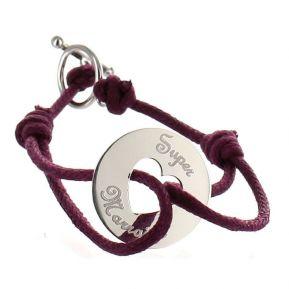 Bracelet jeton coeur personnalisé