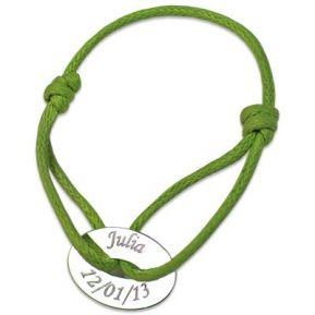 Bracelet jeton ovale personnalisé