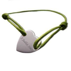 Bracelet joli coeur personnalisé