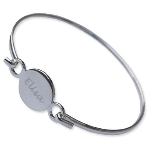 Bracelet jonc rond personnalisé