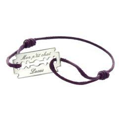 Bracelet lame de rasoir personnalisé