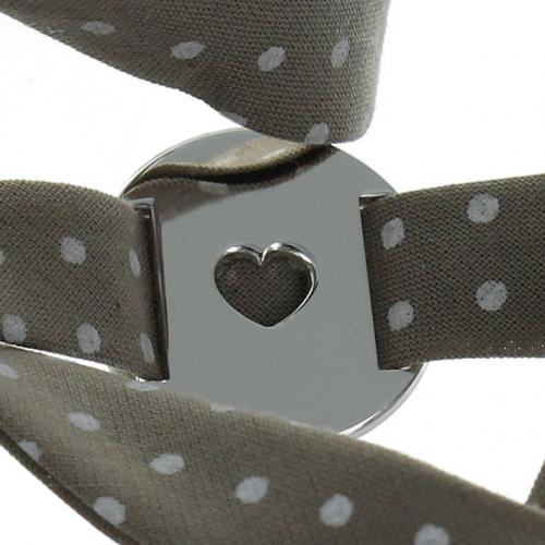 Bracelet gravé coeur avec liberty