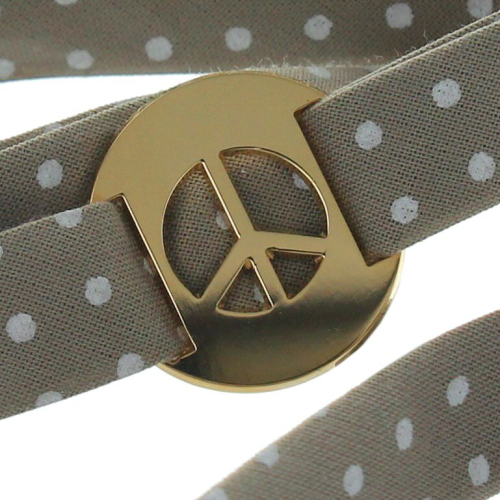 Médaille peace and love sur liberty
