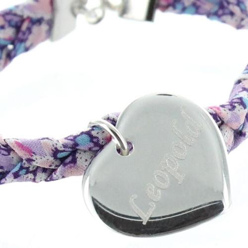 Bracelet coeur liberty tresse