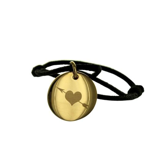 Bracelet Nous deux gravé plaqué or