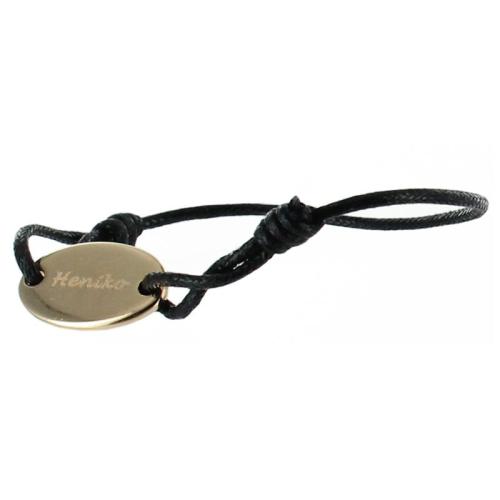 Bracelet ovale plaqué or