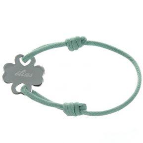 Bracelet joli trèfle personnalisé