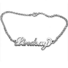 Bracelet prénom argent et cristal