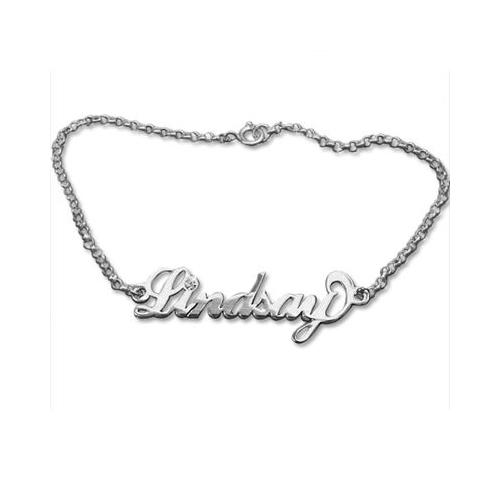 Bracelet avec mon prénom et un cristal