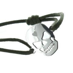 Bracelet Tête de mort gravé