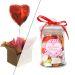 Cadeau amour bonbonnière et ballon coeur gonflé à l'helium