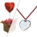 Cadeau amour bijou coeur et ballon coeur gonflé à l'helium