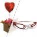 Cadeau amour bracelet infini et ballon coeur gonflé à l'helium