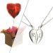 Cadeau Amour Pendentif coeur sécable et ballon coeur gonflé à l'Helium